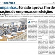 Senado aprova fim de doações de empresas em eleições