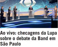 Ao vivo: checagens da Lupa sobre o debate da Band em São Paulo