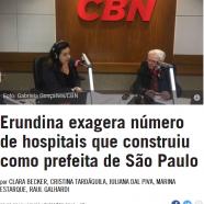 Erundina exagera número de hospitais que construiu como prefeita de São Paulo