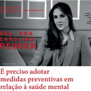 É preciso adotar medidas preventivas em relação à saúde mental